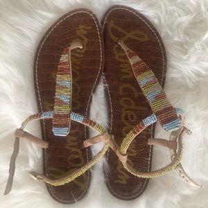 NWOT Sam Edelman brown/turquoise sandals ~sz 8 1/2